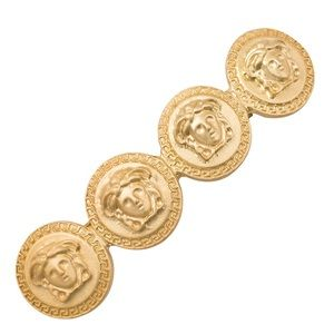 Accessories - Versace Inspired | Coin Hair Clip Medusa Barrette